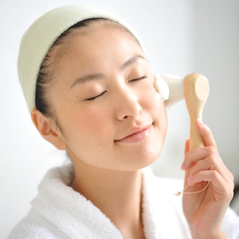 尺・洗顔ブラシ [ヒノキ]
